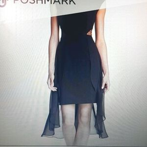 Bebe high low train sleevelessdress size XS